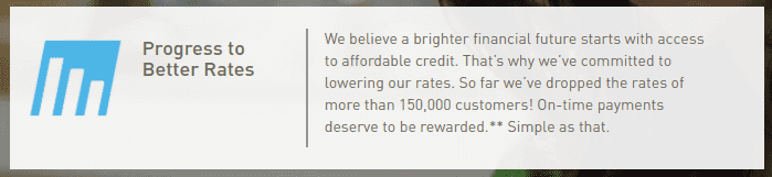 Screengrab of how to PROGRESS TO BETTER RATES page on Rise platform