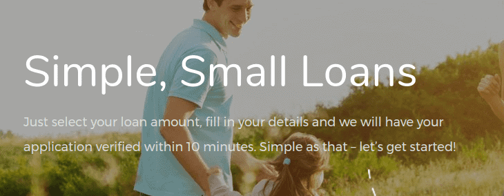 Smiling man playing with a little girls on Zoka Loans home page