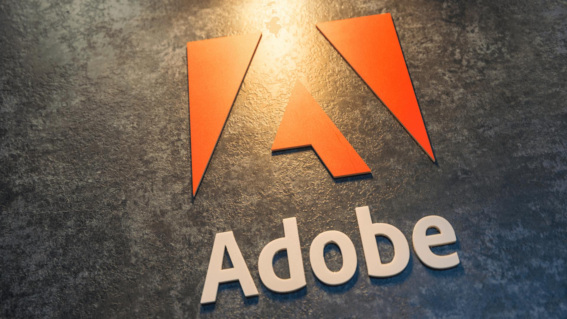 Adobe stock price