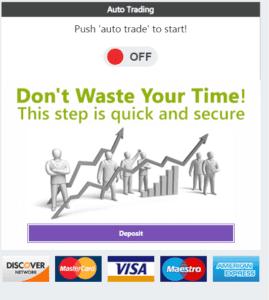 Bitcoin Era's auto trading bot activation board