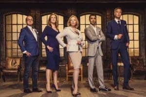 Photo of the Dragon's den TV show hosts