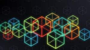 Illustration of multicolored square blocks