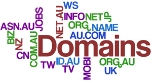 Word domain around different domain extensions