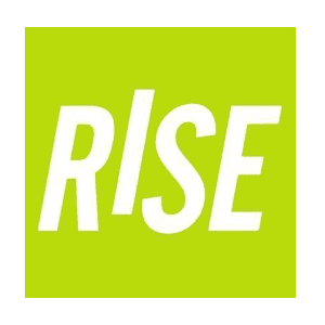 Rise loans app log in white against a light green background