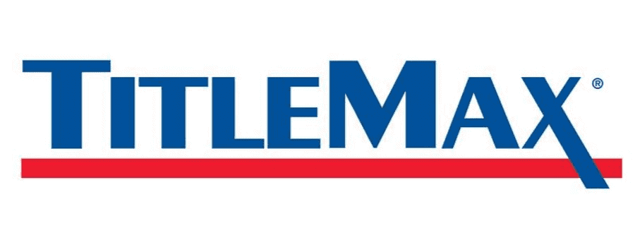 TitleMax Auto Title loan company logo in blue and underlined in red