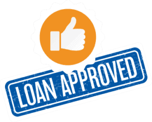 Loan approved with thumbs up