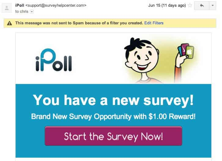 Types of surveys on iPoll