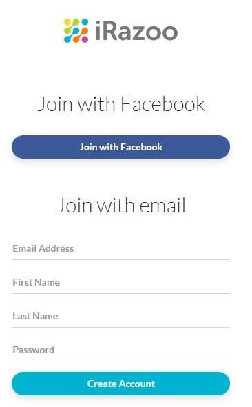 Create an account.