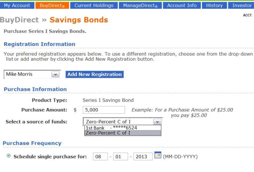 buy savings bonds treasurydirect