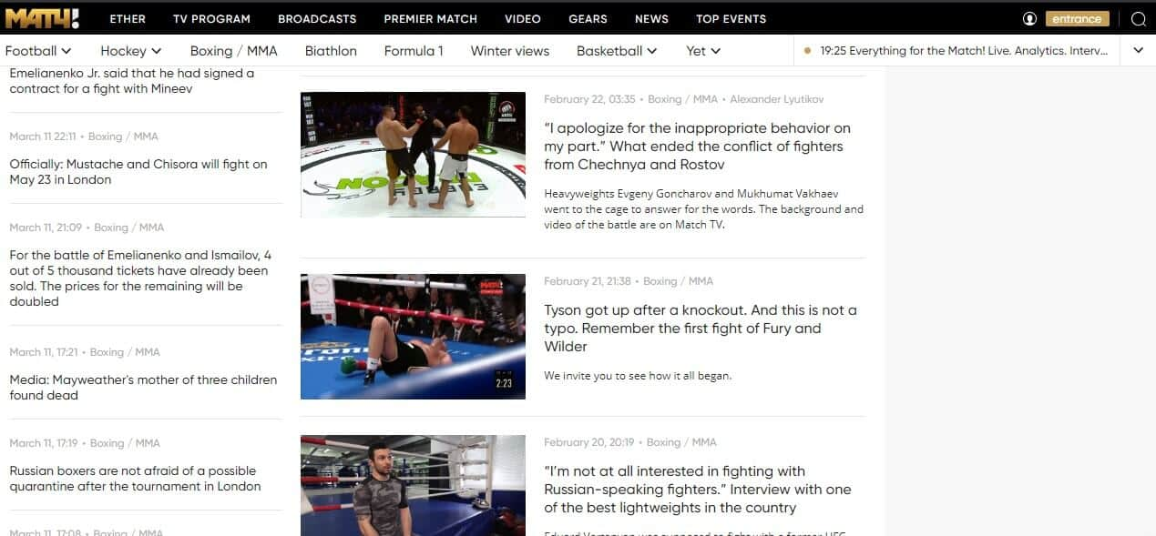 Where to Watch UFC in Russia