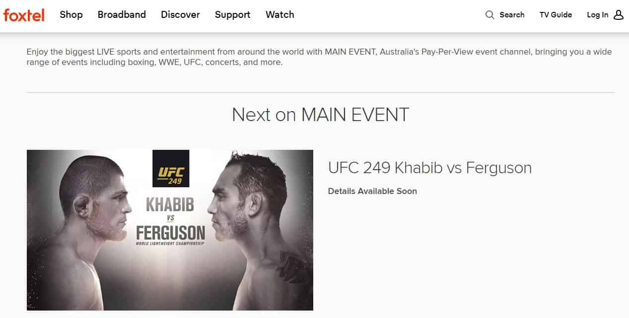 Where to Watch UFC in Australia