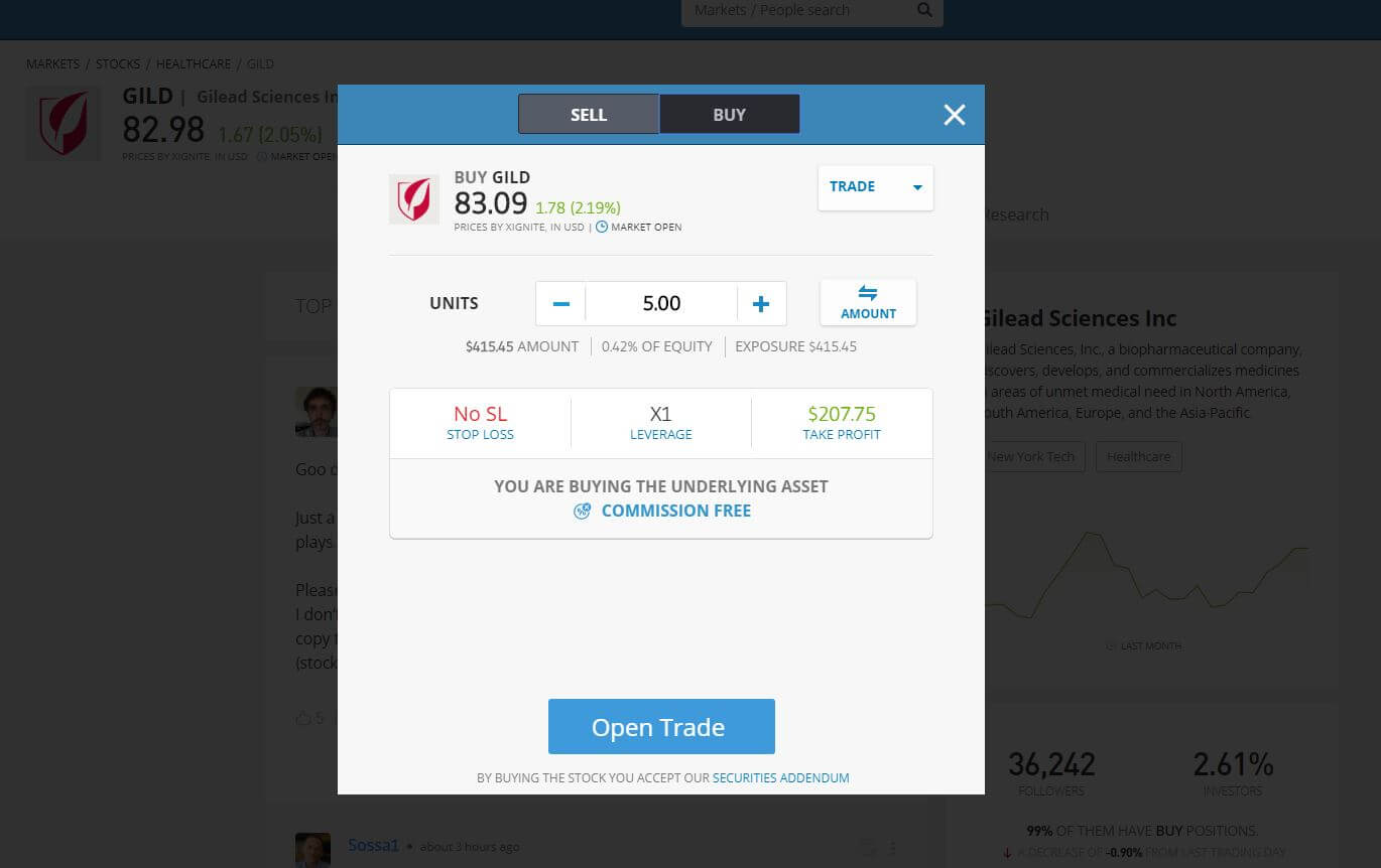 Buy Gilead Stock on eToro