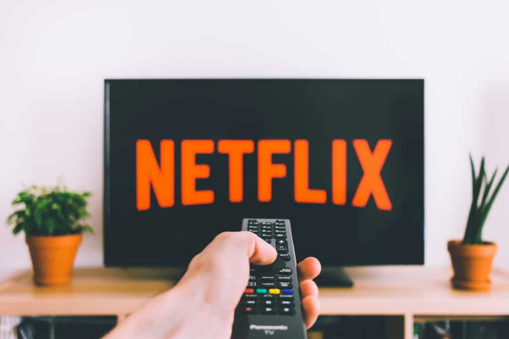 USer hodls remote control and plan to turn on Netflix on TV