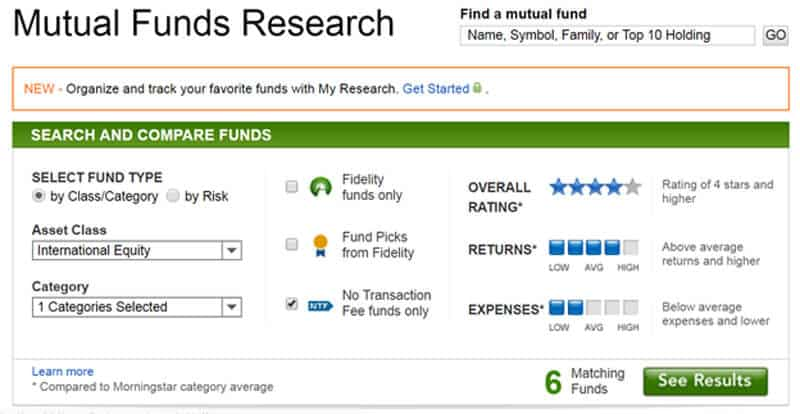 buying mutual funds fidelity