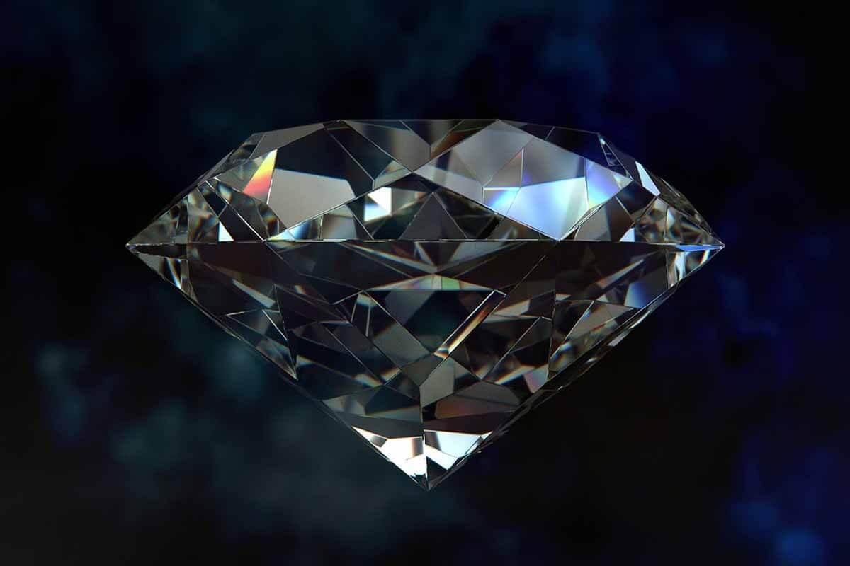 In this photo Diamond stone.