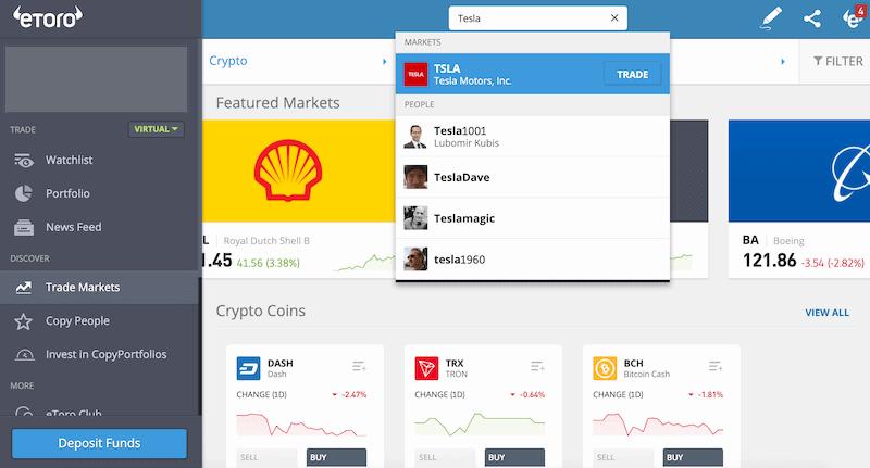 eToro Tesla - How to buy Tesla stock on eToro | Learnbonds