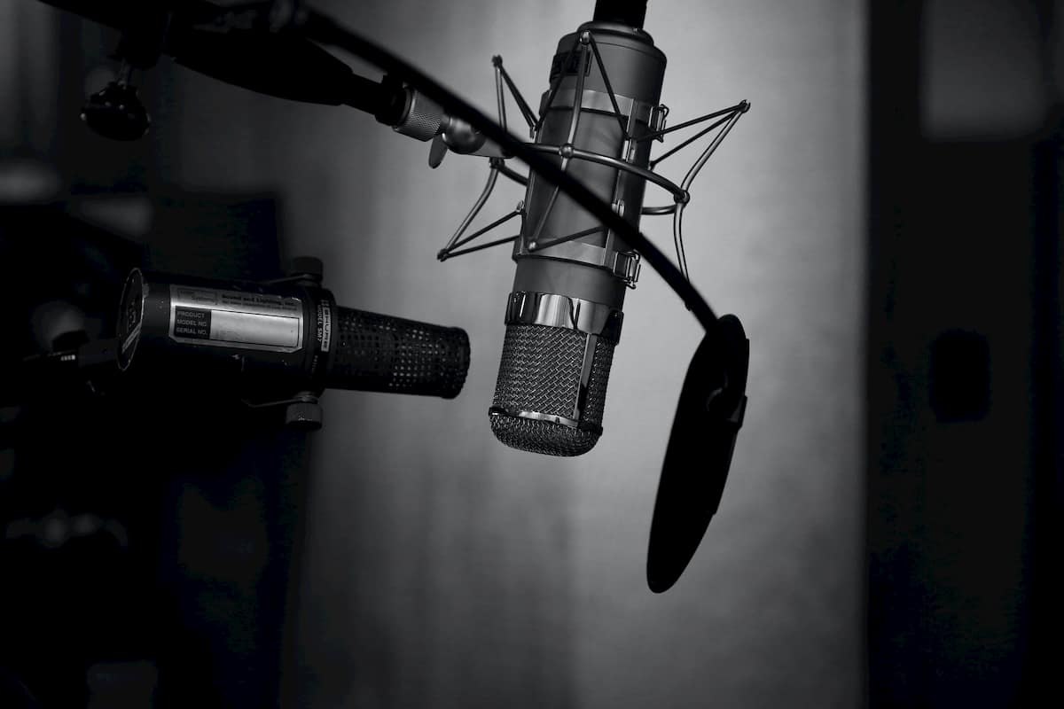 In this photo studio microphone.