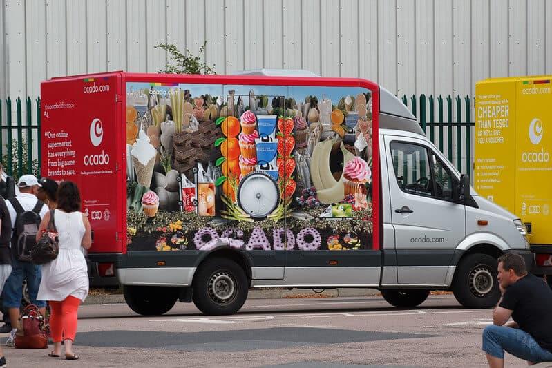ocado truck