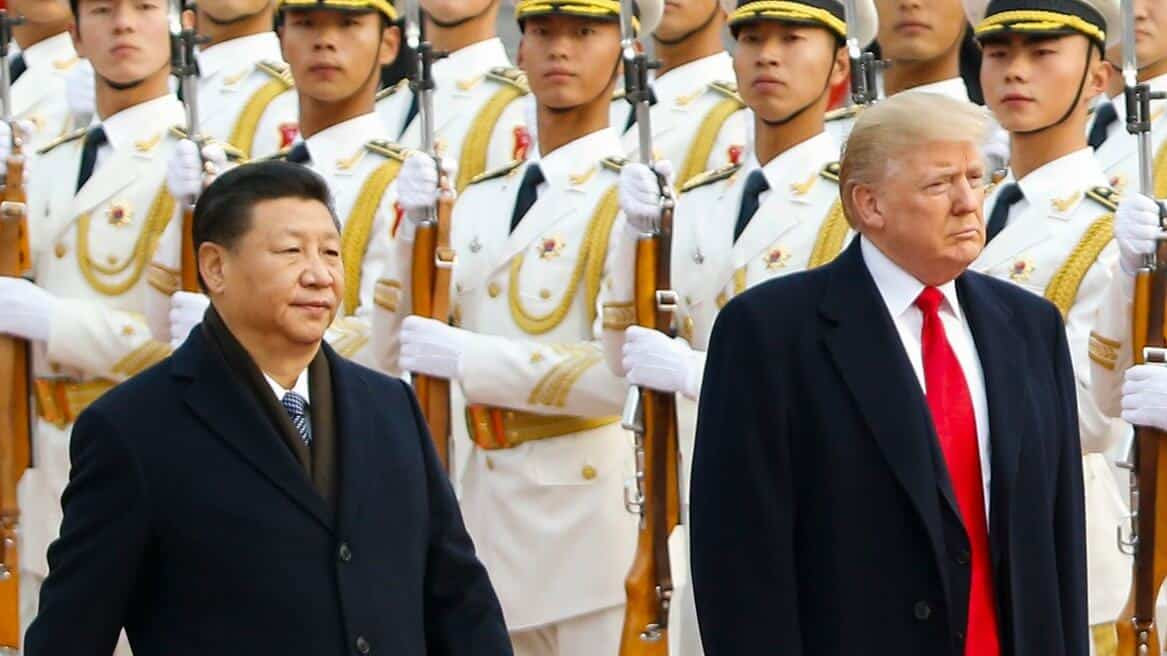 U.S. - China feud with US and Chinese presidents