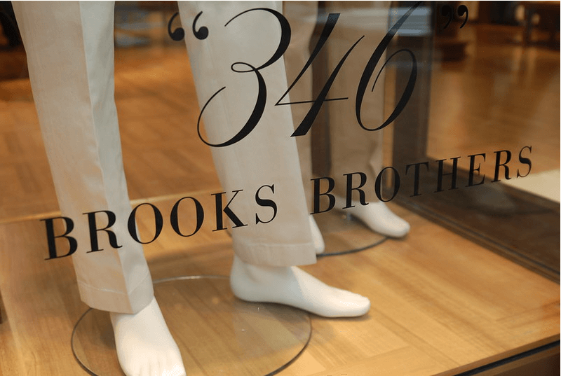 brooks brothers storefront bankruptcy