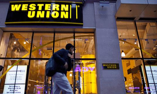 Western Union shop