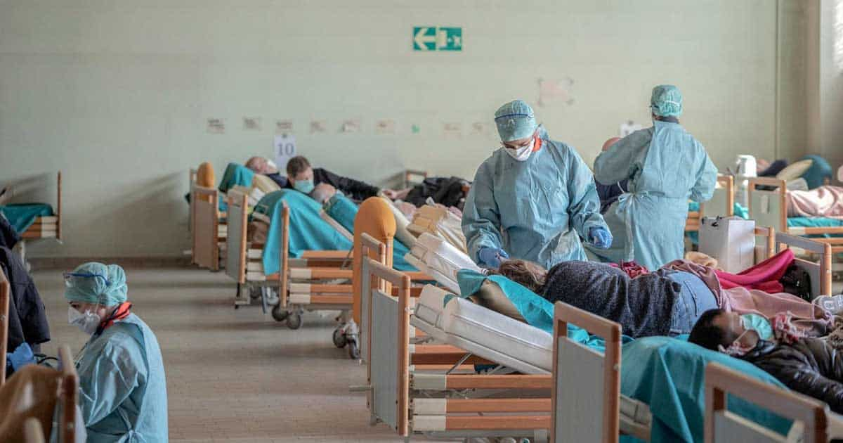 Hospital in underdeveloped country