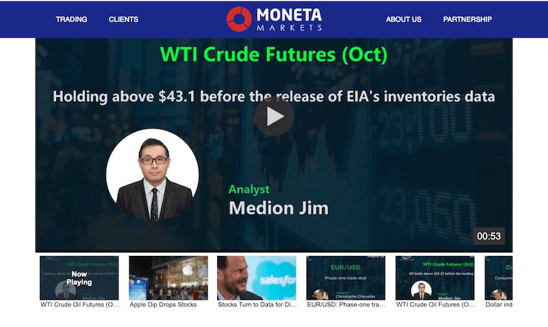 Moneta Markets WebTV