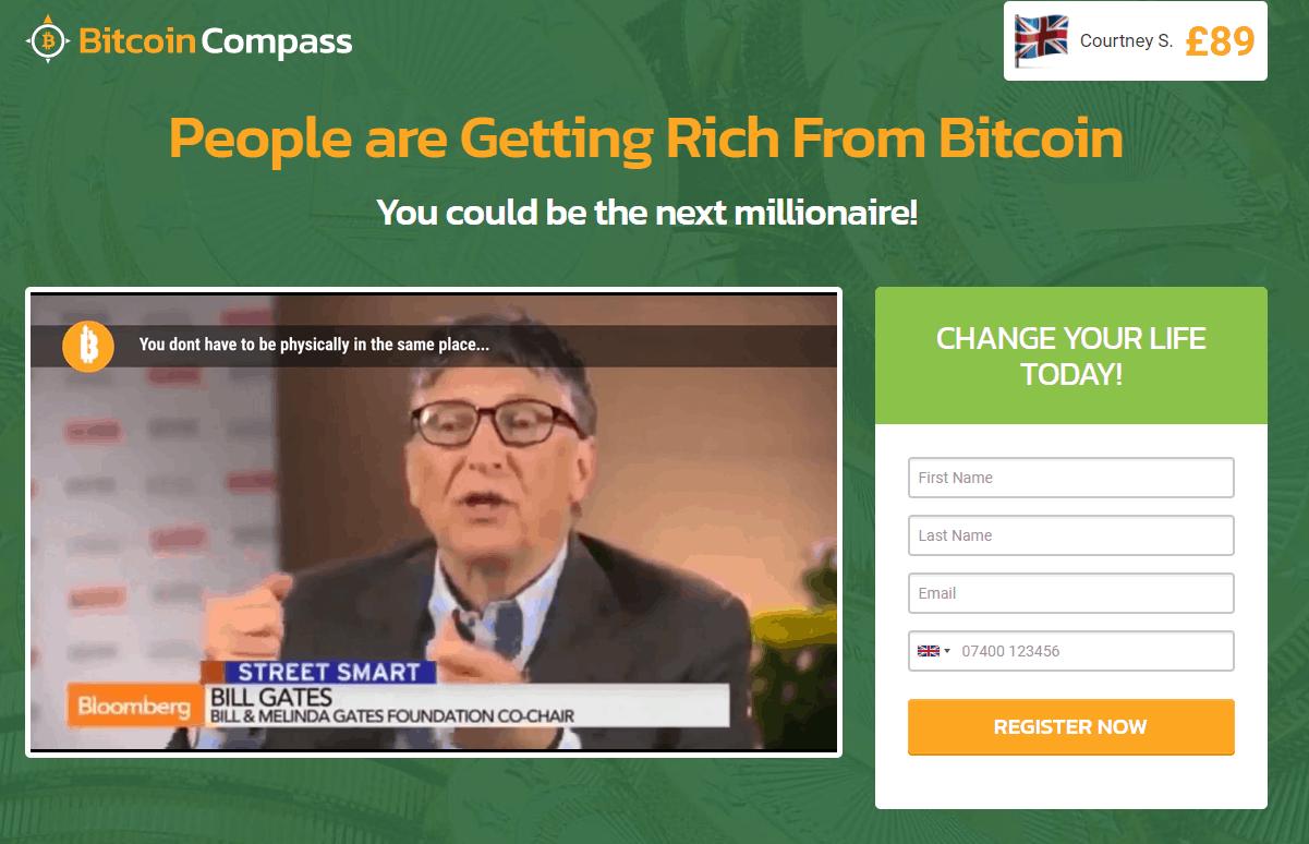 bitcoin compass navigation screen
