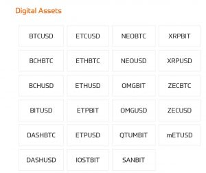 CedarFX Cryptocurrencies