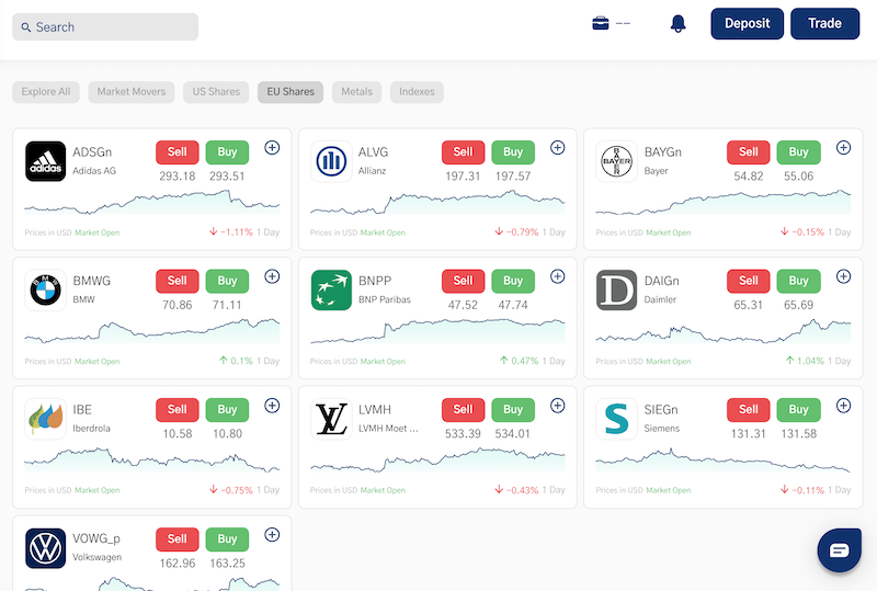 TradeOr stocks