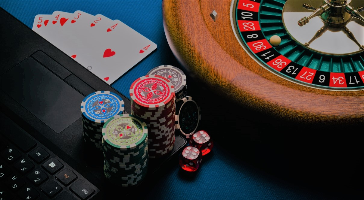 Roulette, cards and a laptop