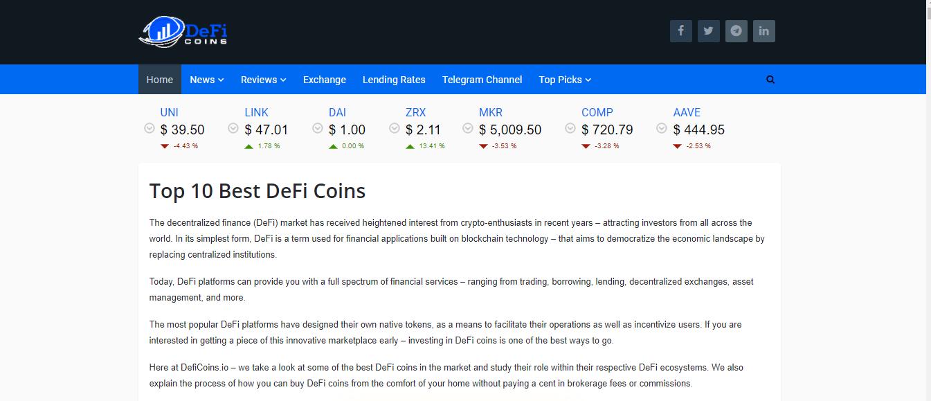 DeFi coins
