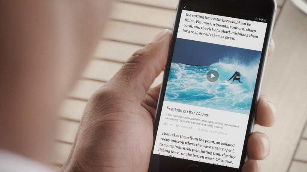 Facebook instant articles new york times