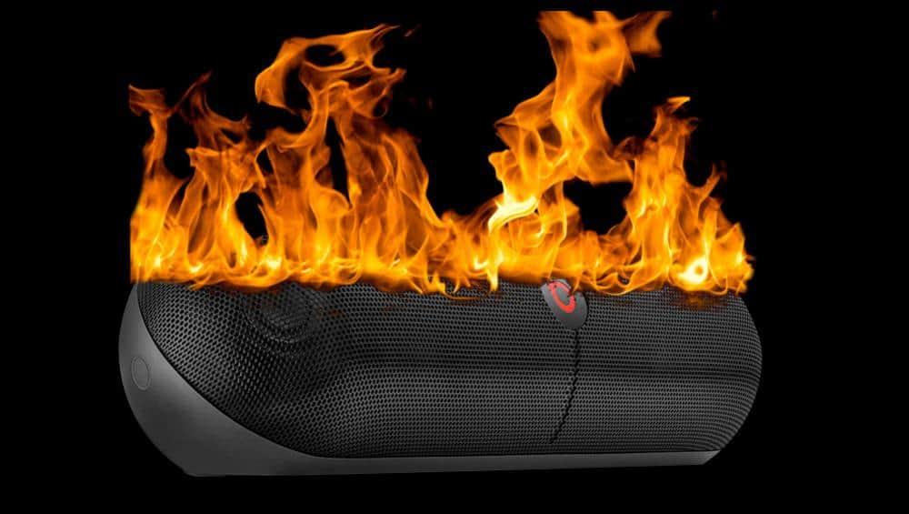 Beats Pill on Fire Apple (AAPL)
