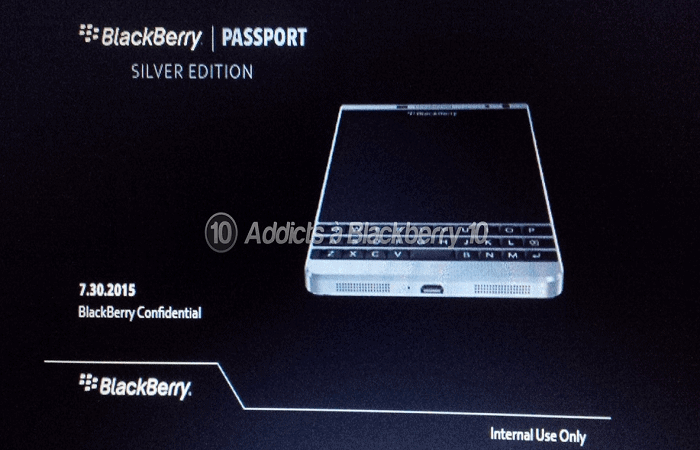 BlackBerry LTD Passport Leak