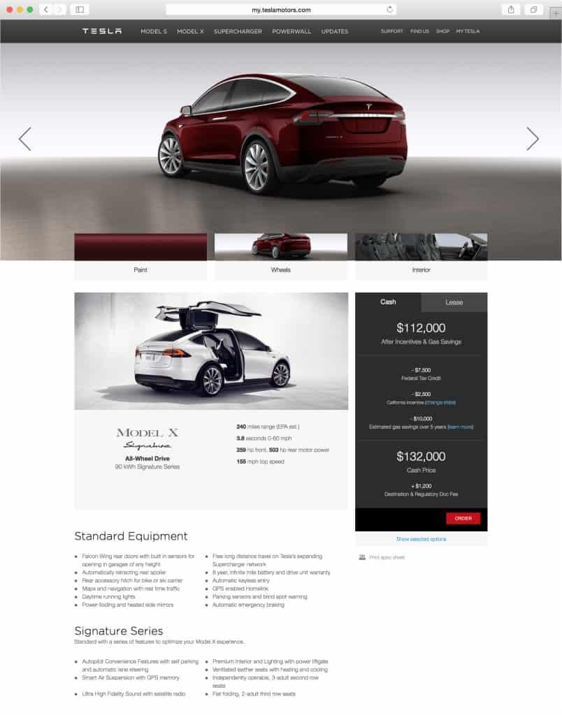 Tesla Model X Design Studio Pictures