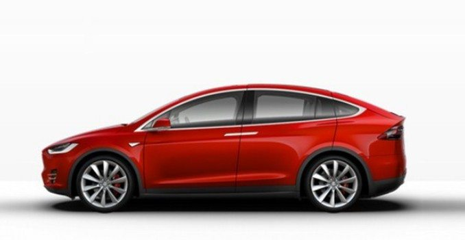 Tesla Motors Inc (NSADAQ:TSLA) Red Model X for China