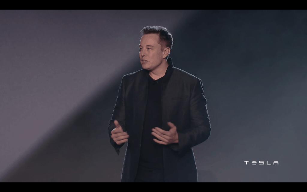 Elon Musk at Tesla Motors Inc (TSLA) Model 3 Unveiling