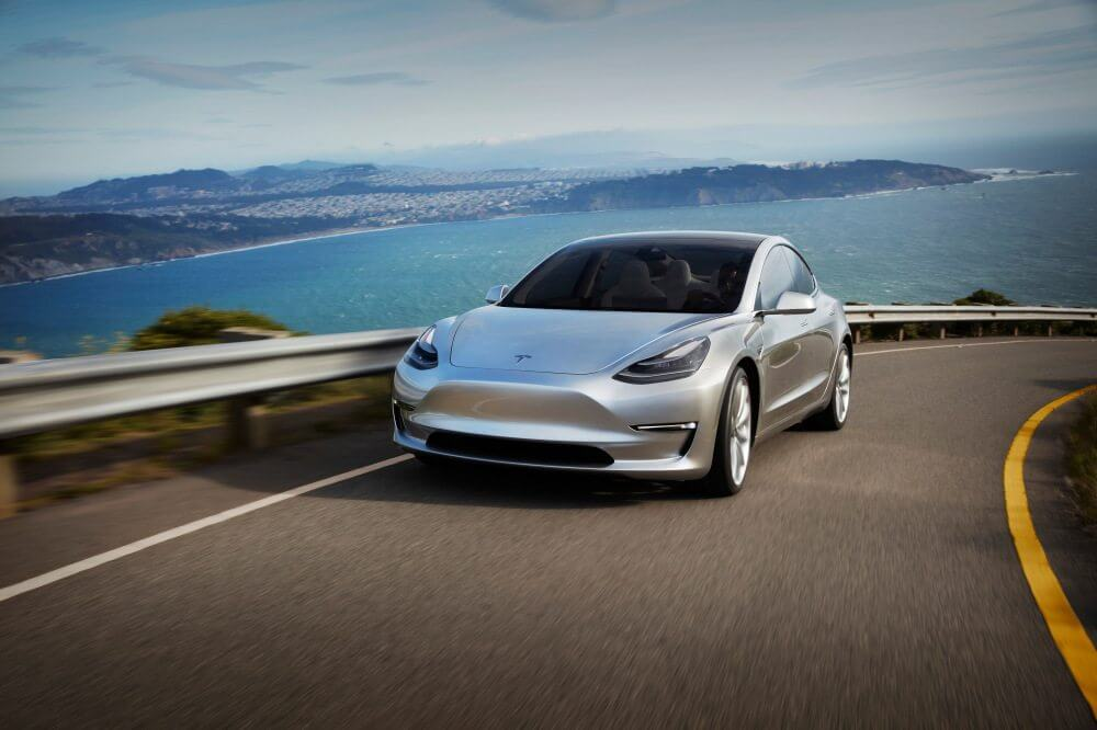 Tesla Motors Inc (TSLA) Model 3 Silver