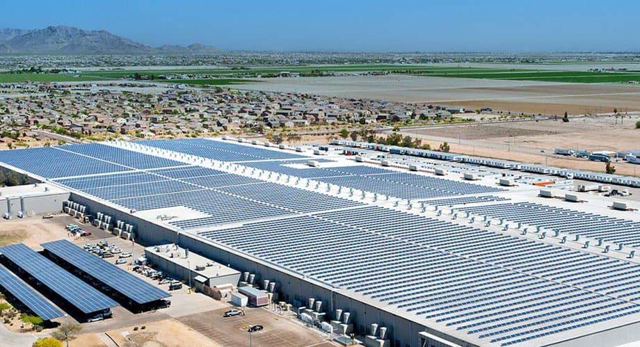 Elon Musk showcasing Tesla's solar tiles