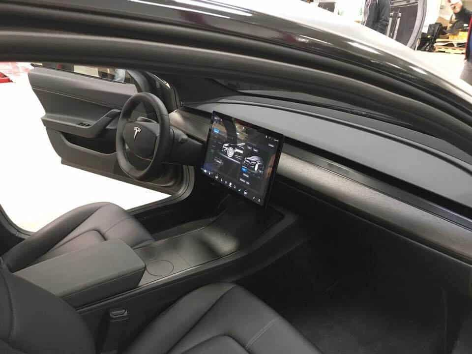 Tesla Motors Inc (TSLA) Model 3 Interior