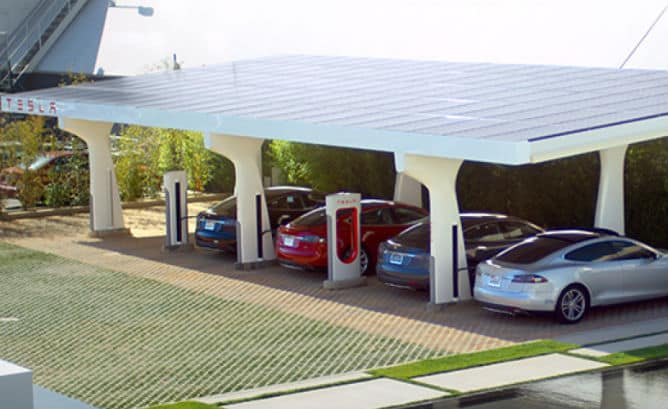 Tesla Motors Inc (NASDAQ:TSLA) SuperCharger Station