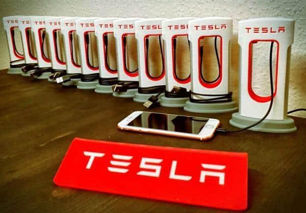 Tesla Superharger for Smartphones