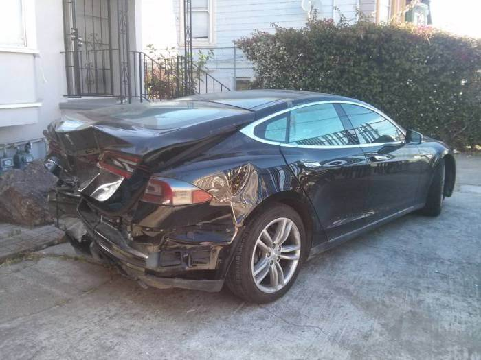How Much Would You This Model S With Minor Dents