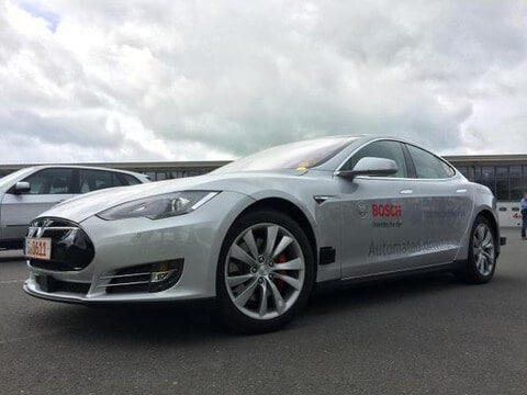 bosch self-driving tesla motors model s