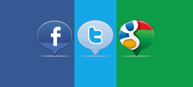Facebook Twitter Google