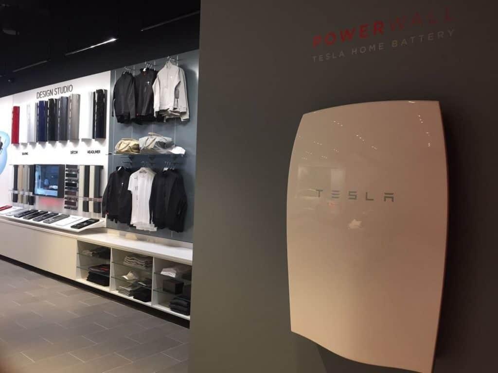 Tesla Powerwall on display in Sydney. Image: Mashable