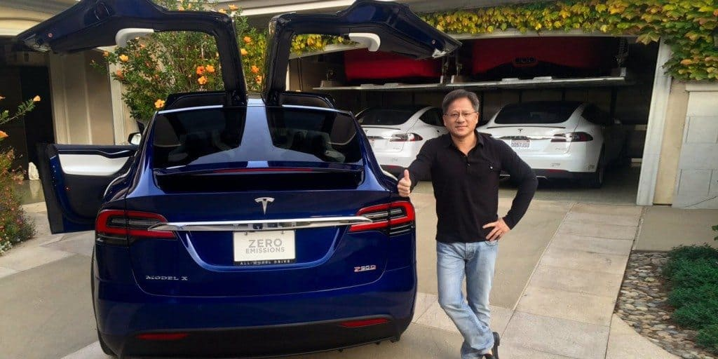 Tesla Motors Model X gets delivered