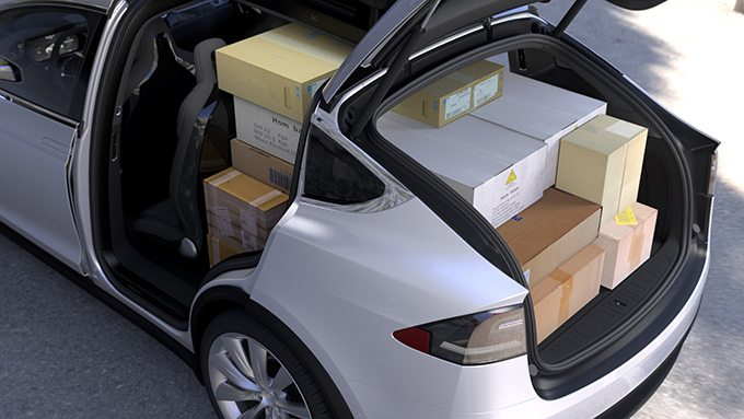 Tesla Motors Inc Model X storage