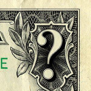 question mark dollar